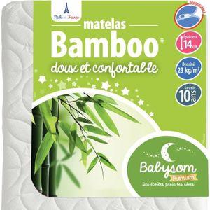 MATELAS BÉBÉ Babysom - Matelas Bébé Bamboo - 70 x 140cm - Epais