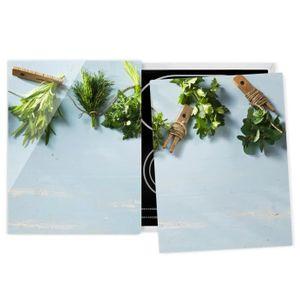 PLAQUE INDUCTION Couvre plaque de cuisson - Bundled Herbs - 52x80cm