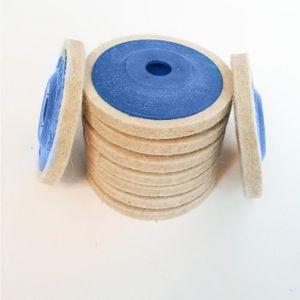 MATÉRIEL LUSTRAGE 3pcs 100mm polissage roue laine feutre polisseur d