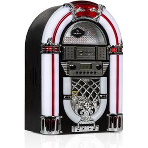 CHAINE HI-FI auna Arizona chaîne hifi Jukebox design vintage 50