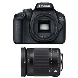 APPAREIL PHOTO RÉFLEX CANON EOS 4000D + SIGMA 18-300mm F3.5-6.3 DC OS HS