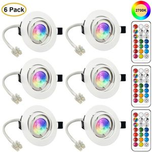SPOTS - LIGNE DE SPOTS LED Spots Encastrables Orientable GU10 Ampoule RGB