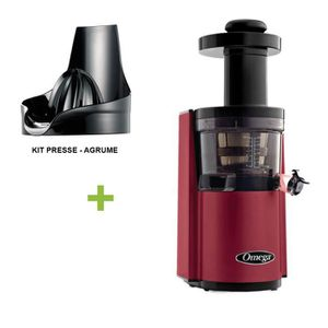 EXTRACTEUR DE JUS Pack  Omega VSJ843 Rouge + presse agrume - Extract