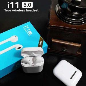 CASQUE - ÉCOUTEURS i11 TWS écouteurs sans fil avec microphone Micro c
