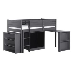 lit mi hauteur avec rangement achat vente lit mi. Black Bedroom Furniture Sets. Home Design Ideas