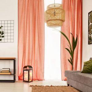 VOILAGE Voilage Premium Coton - 110 x 250 cm - Orange