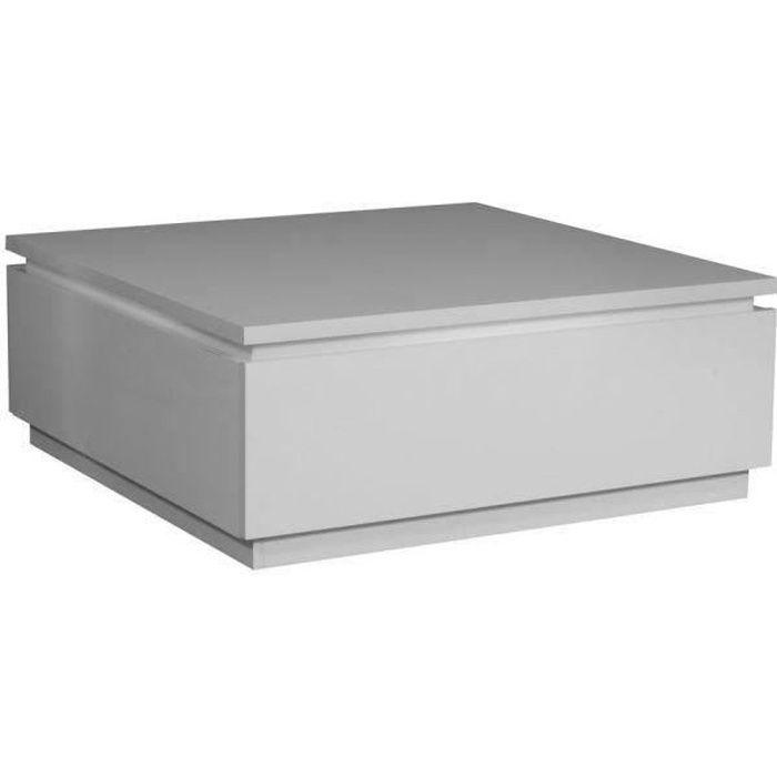 BUZZ Table basse avec éclairage laquée blanc