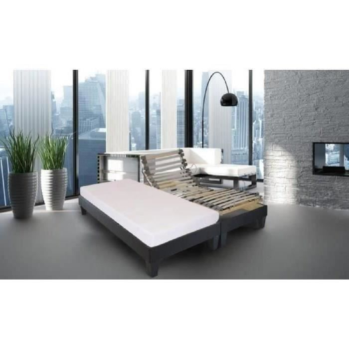 lit 2 places avec telecommande achat vente lit 2 places avec telecommande pas cher cdiscount. Black Bedroom Furniture Sets. Home Design Ideas