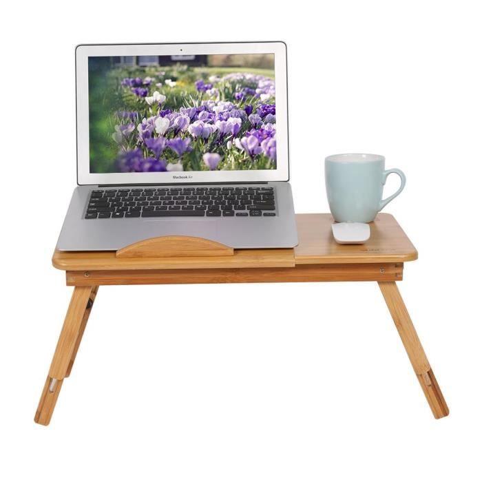1 pc Support pour ordinateur portable réglable en bambou rack étagère dortoir lit Lap bureau portable Tip