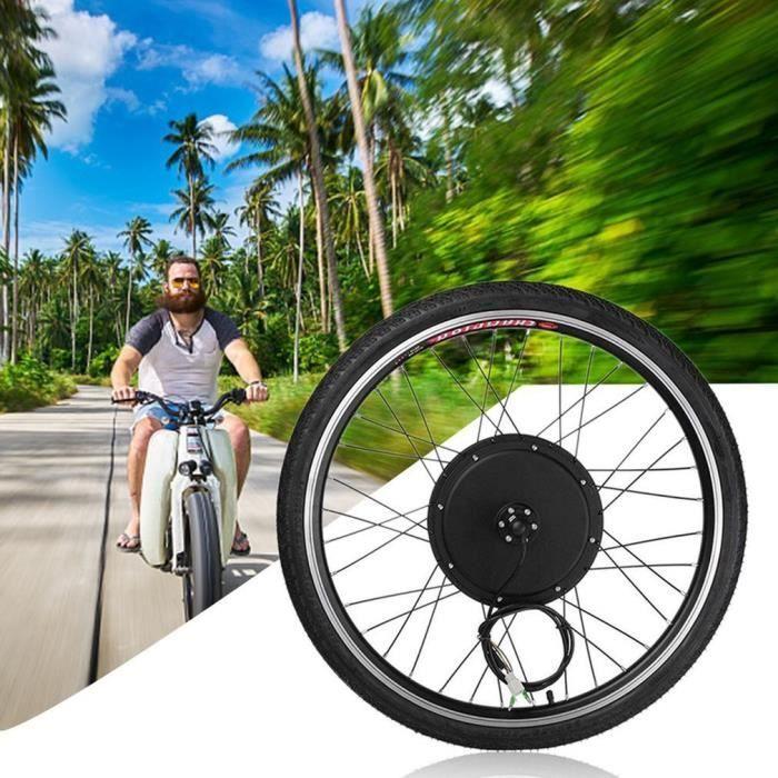 26- Kit De Conversion De Vélo Électrique 48V 1000W - Noir