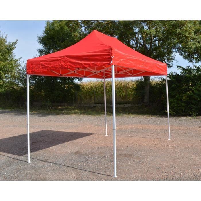 Barnum Pliant 2x3m Rouge - Tente Pliante Etanche