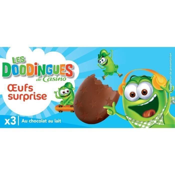 Œufs surprise Les Doodingues au chocolat au lait - 3x 20 g
