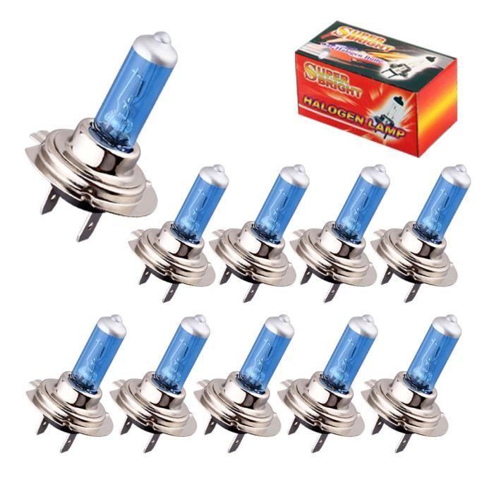 WHITE 100 W H3 -Ampoules halogènes Super lumineuses H1 H3 H7 H4 H11 HB3 HB4 HB5 9004 9005 9005 9007 feu antibrouillard blanc 100W 55