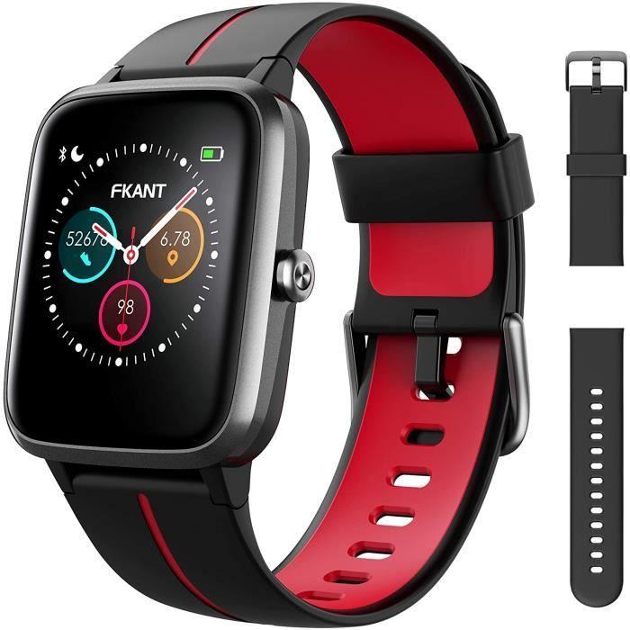 Montre Connectée Homme Femme, GPS Montre Sport 14 Modes étanche IP68 avec Fréquence Cardiaque Soins Sains, Moniteur de Sommeil Compt