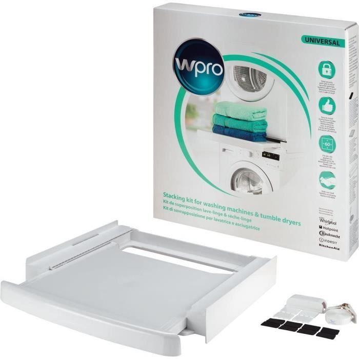 Wpro SKP101 Stacking kit - Pièces et accessoires de sèche-linge (Stacking kit, White, Plastic, Box, CE, 600 mm)