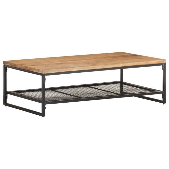 Table basse 110x60x35 cm Bois d'acacia massif HB037