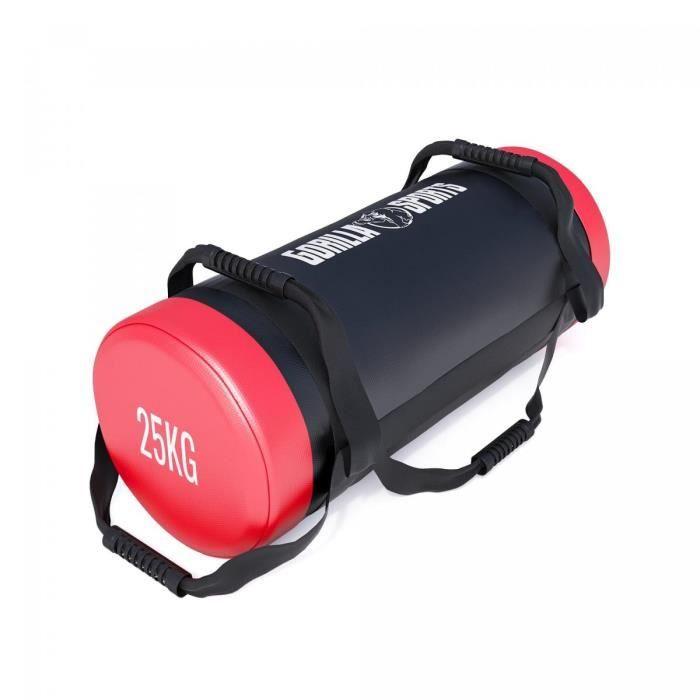 Fitness bag noir-rouge - Sac lesté 25kg
