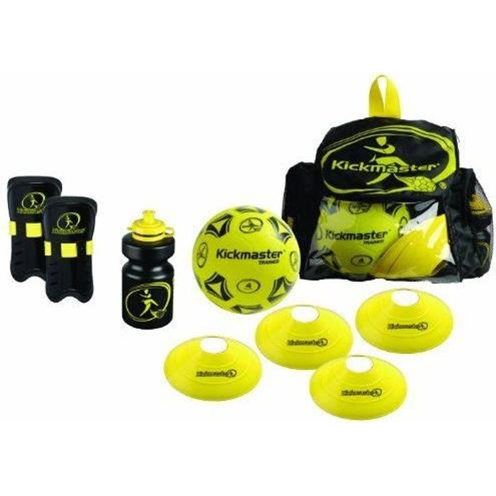 Kickmaster Kit d'entraînement avec sac à dos Noir/jaune