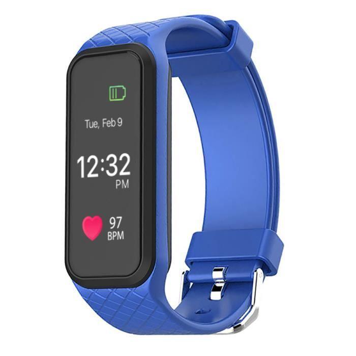 L38i Rythme cardiaque Smart BT Bracelet sport Suivi des activités de notification des appels Surveillance du sommeil Bleu
