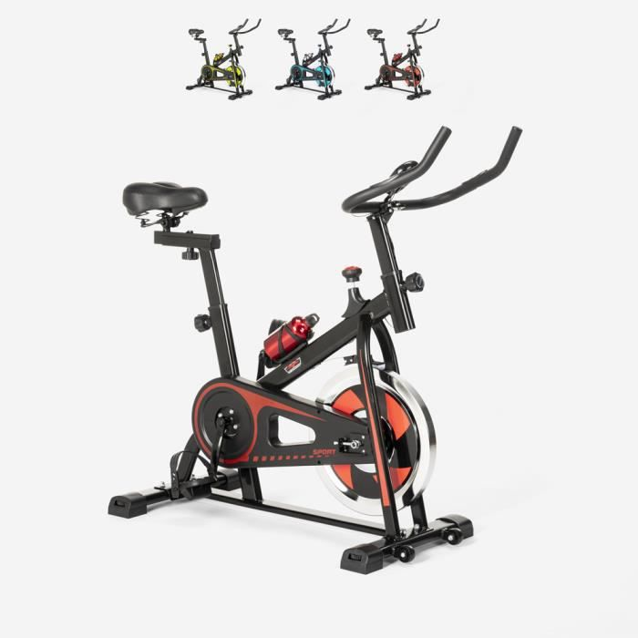 Spin Bike Spinning Fit Bike avec volant professionnel Minerva - couleur:Rouge