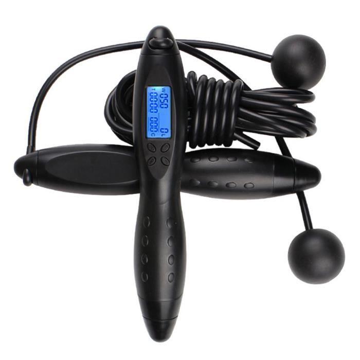 Unisexe Gym Fitness sans fil Corde à sauter Crossfit Corde à sauter la combustion des calories sans fil d'intérieur Corde à