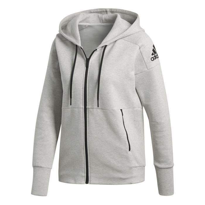 ADIDAS Sweat-shirt Multisport ID Stadium Hoody - Femme - Gris clair
