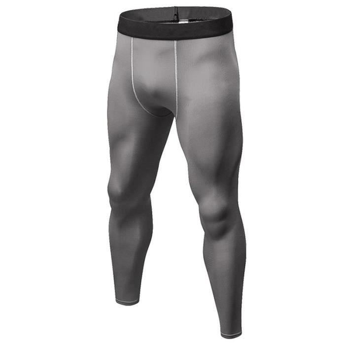 Pantalon Collant de Compression Homme Thermique Pour Sport Fitness Entraînement Séchage Rapide
