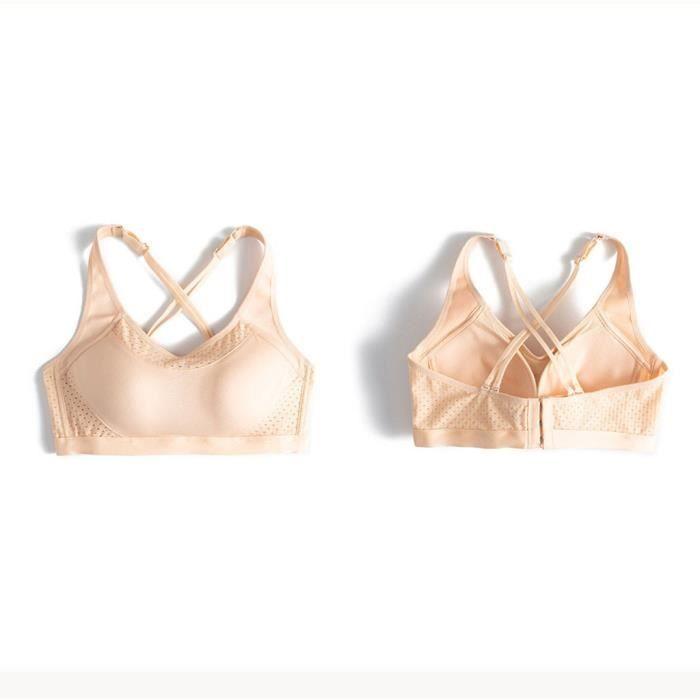 BRASSIERE DE SPORT - SOUTIEN-GORGE DE SPORT Nouvelles femmes Cross Back Ventilation Sports Sous-vêtements sommeil sans