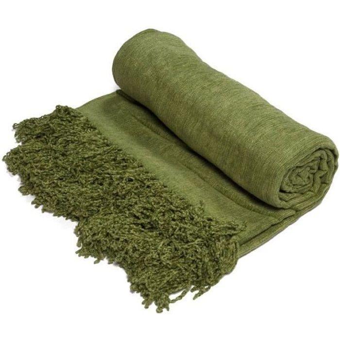 Plaid BANGALORE Vert mousse