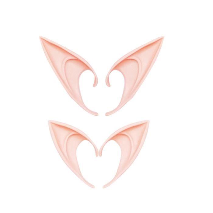 4Pc oreilles d'elfe Cosplay accessoires durables mignons pour noël carnavals AUTRE ACCESSOIRE DEGUISEMENT VENDU SEUL