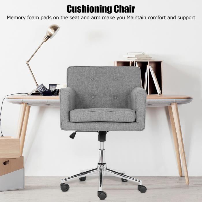 VGEBY Chaise de bureau Réglable Moderne Tendance Design Ergonomique Confortable HB010 HB359 Bon Matériel