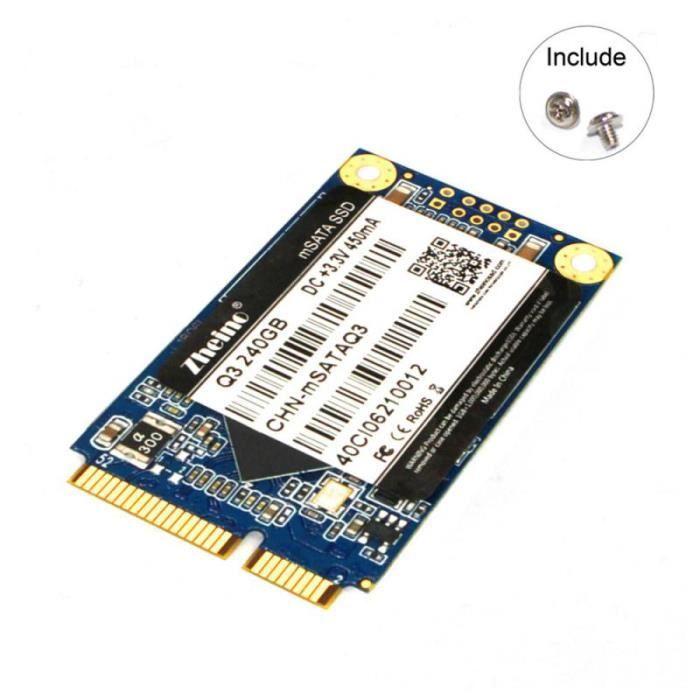 DISQUE DUR SSD interne SSD Q3 240Go MSATA 3D TLC NAND FLASH