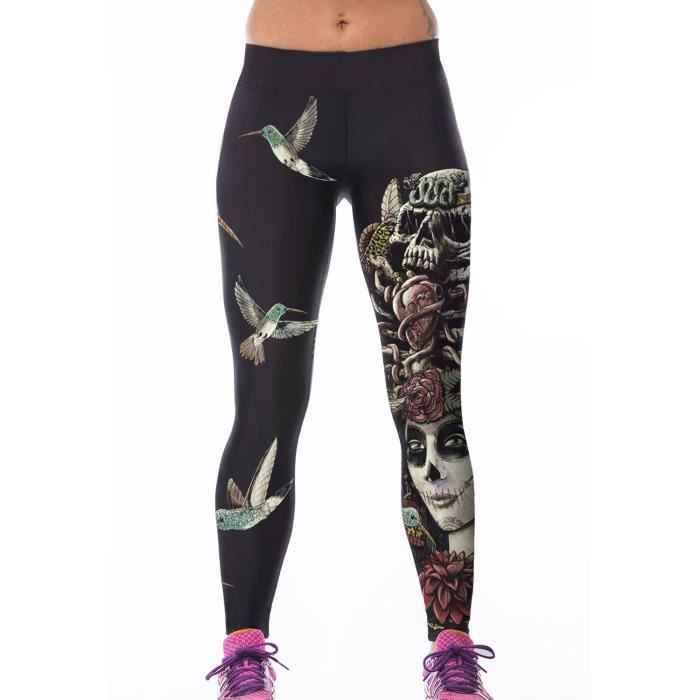 leggings sport femme gym yoga fitness evabella noir achat vente legging 2009886262920. Black Bedroom Furniture Sets. Home Design Ideas
