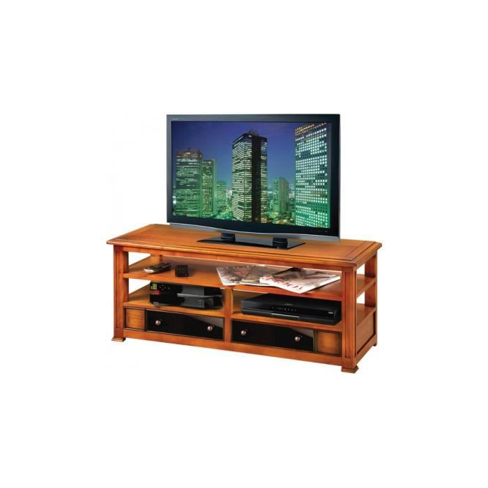 meuble tv hifi merisier massif 2 tiroirs 3 plateaux achat vente meuble tv meuble tv hifi. Black Bedroom Furniture Sets. Home Design Ideas