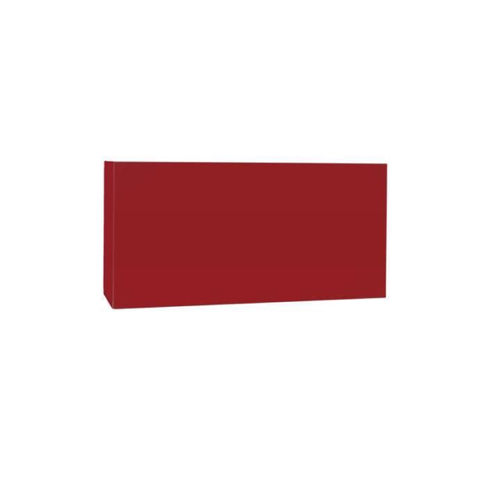Meuble tv mural horizontal down s rouge achat vente for Meuble horizontal mural