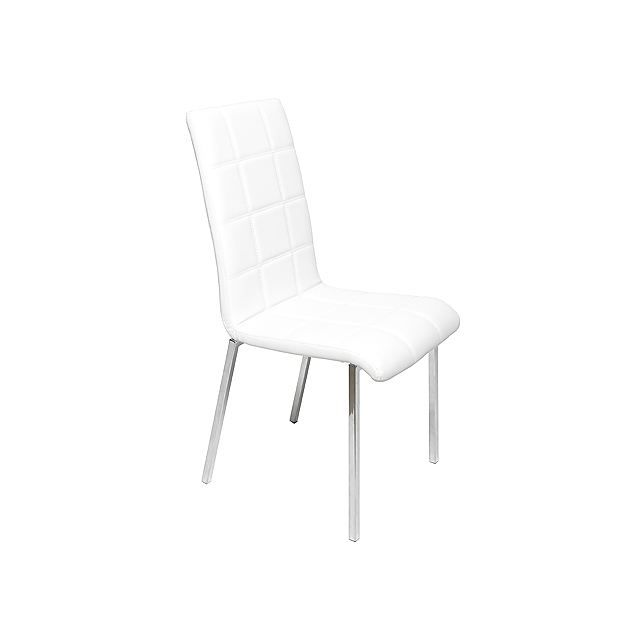 lot de 2 chaises blanche moderne silva achat vente. Black Bedroom Furniture Sets. Home Design Ideas