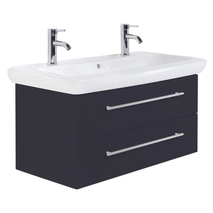vasque 100 Meuble salle de bain Keramag IT! 100 cm à double vasque anthracite satiné
