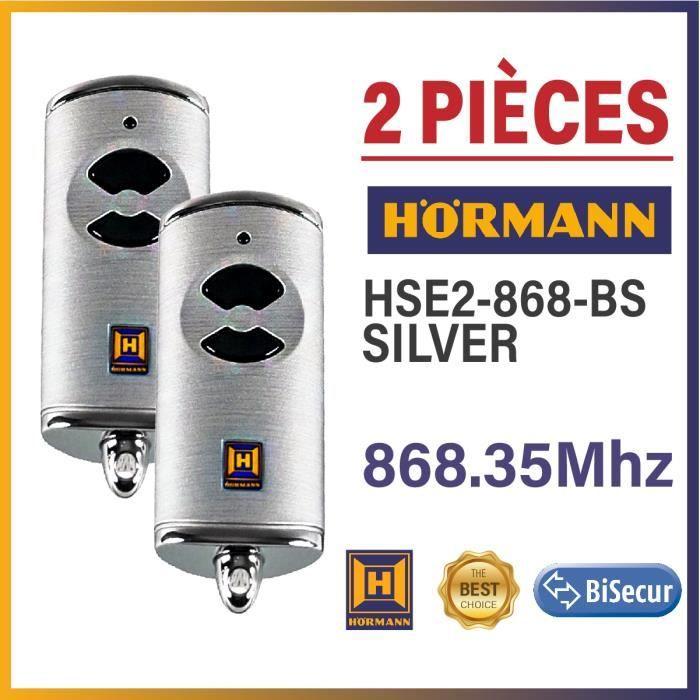 Lot de 2 /émetteurs portatifs H/örmann HSM 4 868 MHz Commande /à distance pour ouverture de porte de garage /Émetteur radio