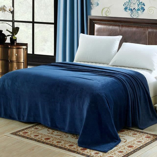 Pique-couverture couverture Camping couverture piscine 135 x 170 cm Bleu Blanc à Carreaux