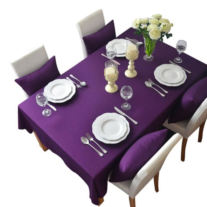 keral nappe de table polyester rectangulaire carr e nappes anti taches nappe decoration pour. Black Bedroom Furniture Sets. Home Design Ideas