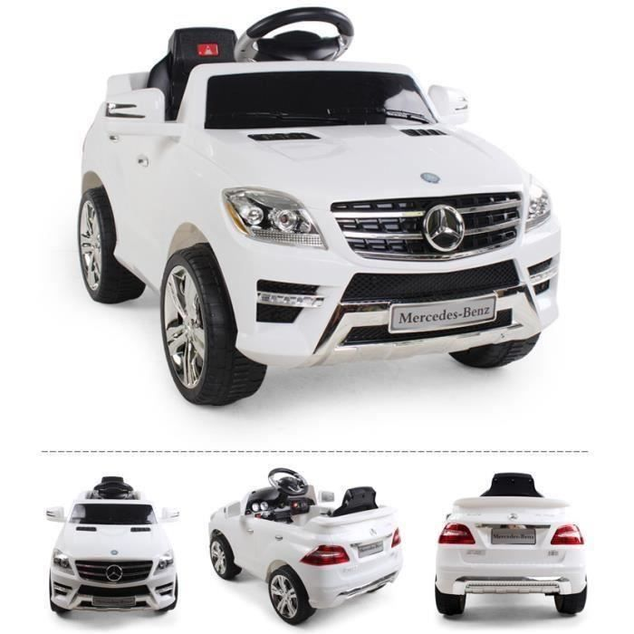 voiture lectrique pour enfant mercedes ml 350 blanc. Black Bedroom Furniture Sets. Home Design Ideas