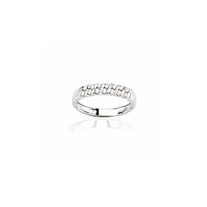 ALLIANCE - SOLITAIRE Alliance en or blanc et diamants - Diane