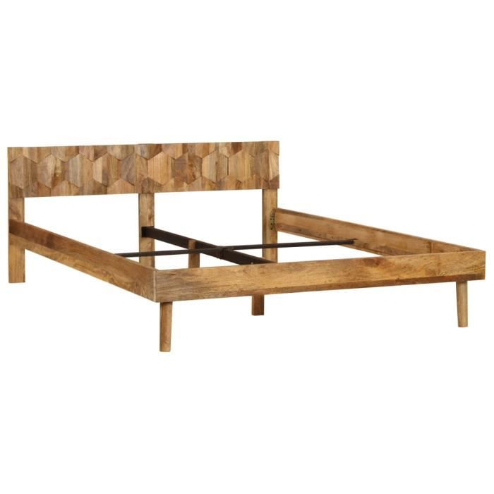 STRUCTURE DE LIT Structure de lit Adulte Cadre de lit Bois de mangu