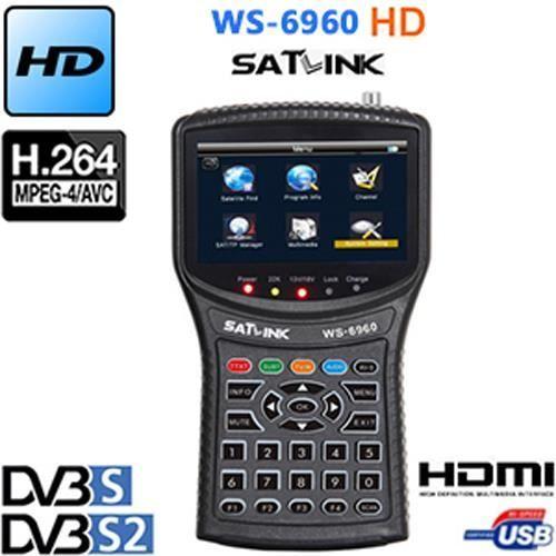SATLINK WS 6916 HD Mesureur de Champ SATELLITE HD DVB-S2 Pointeur MPEG-2