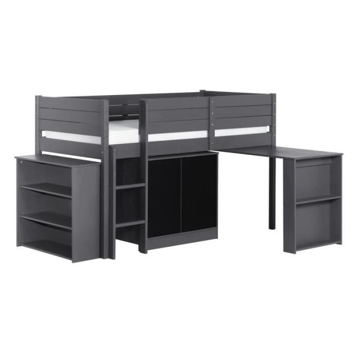 lit enfant hauteur lit mihaut enfant combin rose avec bureau with lit enfant hauteur lit. Black Bedroom Furniture Sets. Home Design Ideas