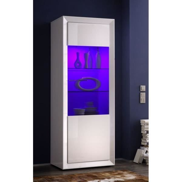 colonne vitrine zenith gauche avec led achat vente vitrine argentier colonne vitrine. Black Bedroom Furniture Sets. Home Design Ideas