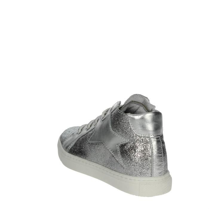 Ciao Bimbi Haute Sneakers Fille Argent , 24