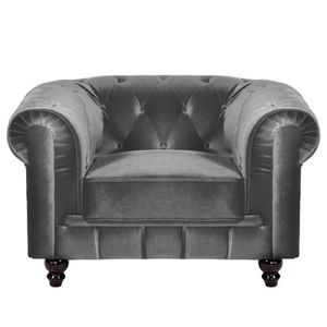 canap chesterfield gris achat vente canap chesterfield gris pas cher cdiscount. Black Bedroom Furniture Sets. Home Design Ideas