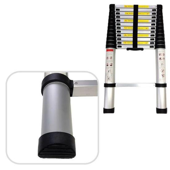 Charge maximale: 150 kg EN 131 Echelle Telescopique /Échelle Pliable Todeco Standards//Certifications: EN131-3,2 m/ètre Sac de transport OFFERT s