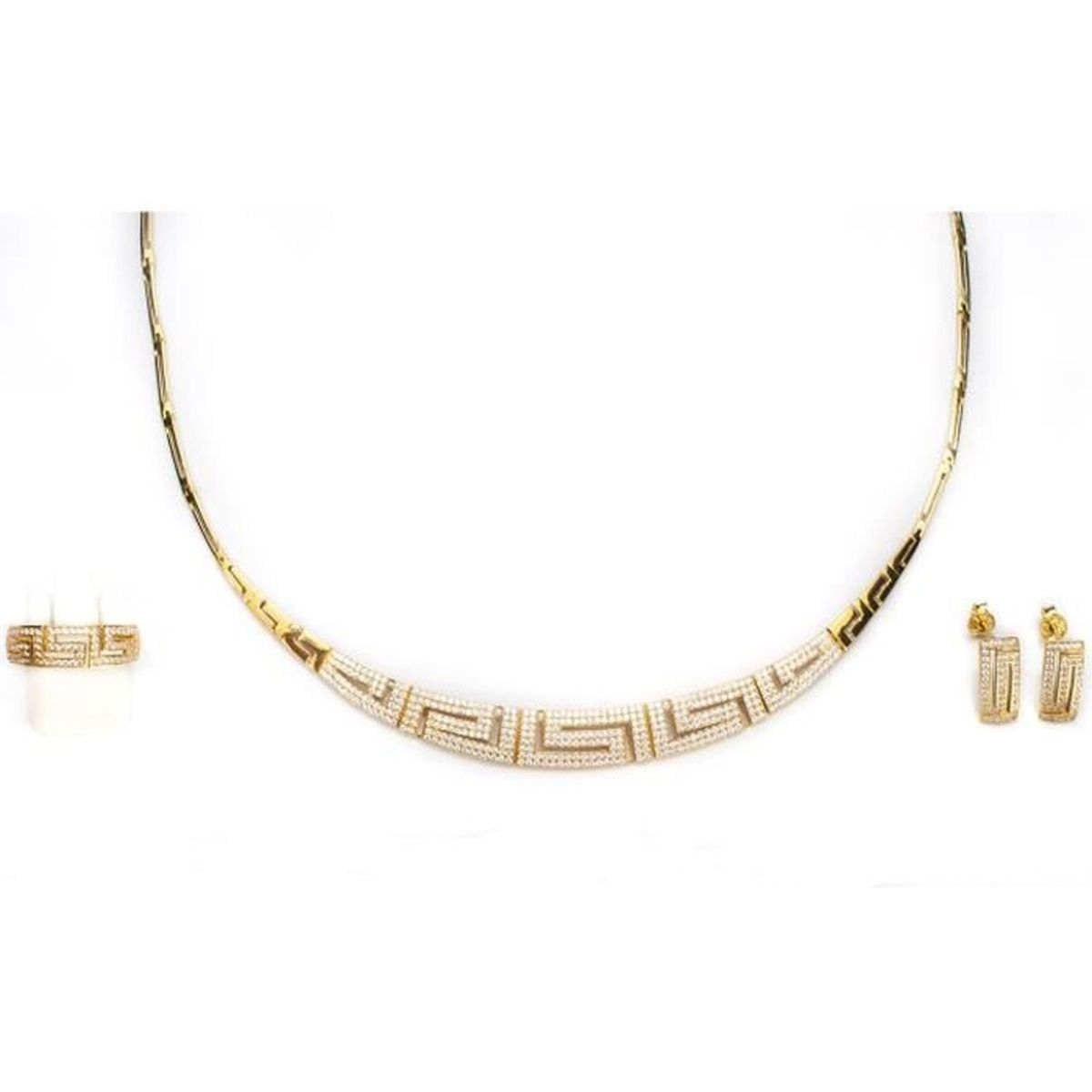 Or 18 Carat Collier Maille Gourmette Twist 750//1000 Carissima Gold